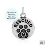 Rescue Pendant, Rescue Jewelry, Rescue Charm, Rescued Pendant, Rescued Jewelry, Rescued Charm, Dog Rescue Pendant, Dog Rescued Charm, Dog Rescued Jewelry, Rescue Dog Charm, Best Gifts For Dog Lovers, Rescue Dog Pendant, Cool Gifts For Dog Lover