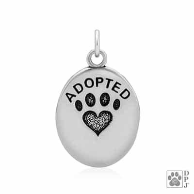 Dog Adopted Pendant, Dog Adopted Jewelry, Dog Adopted Charm, Cat Adopted Pendant, Cat Adopted Charm, Cat Adopted Jewelry, Animal Adopted Charm, Dog Gifts, Cool Gifts For Dog Lover, Gifts For Dog People, Dog Mom Jewelry, Dog Dad, Dog Necklace