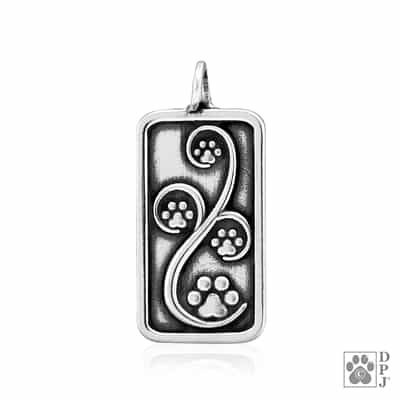 Sterling Silver Journey Paws Pendant