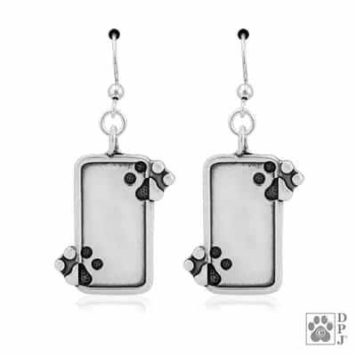 paw print jewelry, Just The 2 Of Us earrings