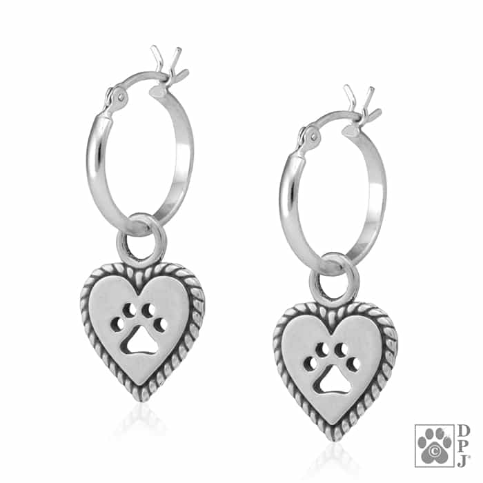 Sterling Silver Roped Into Your Love Hoop Earrings