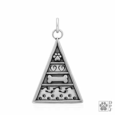 Engraved Sterling Silver Pyramid of Life pendant