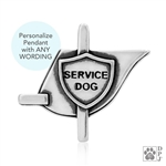 Personalized Service Dog Vest Necklace, Engraved Service Vest Charm, Personalized Service Dog Vest Pendant