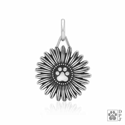 Sterling Silver Flower Pawer Pendant