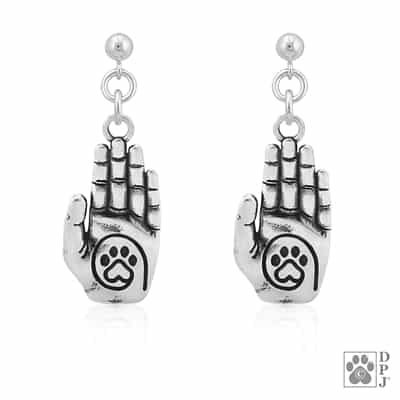 Sterling Silver A True Friend Reaches For Your Hand & Touches Your Heart Earrings