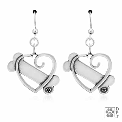 Sterling Silver K-9 Cupid Earrings