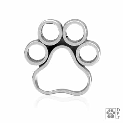 Sterling Silver Peek-A-Boo Paws Slide, Pendant