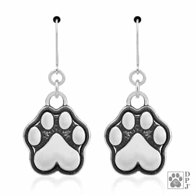 Sterling Silver Speak to the Paw Dangle Earrings