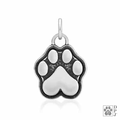 Engraved Sterling Silver Speak to the Paw Pendant