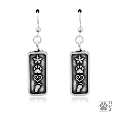 Sterling Silver Love and Destiny earrings