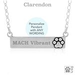 Paw print name plate necklace