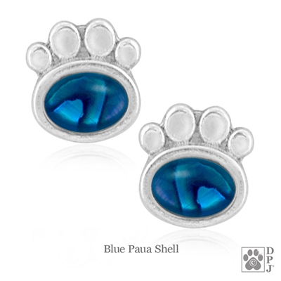 Semi-Precious Paw Print Earrings and Dog Paw Earrings