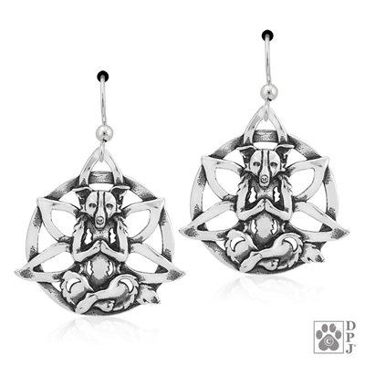 Sterling Silver Namaste Earrings -- new