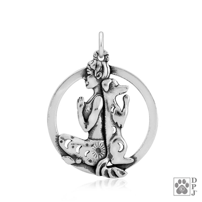 Momaste Pendant, Dog Yoga Charm, Pet Charm, Dog Necklace