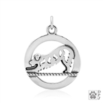 Sterling Silver Downward Dog Pendant, Doga Jewelry, Dog Yoga Charm