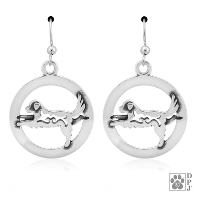 Warrior III Pose Earrings,  Sterling Silver Yoga Dog Earrings