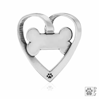 Sterling Silver Sweetheart Bone Slide Pendant