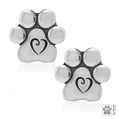 puppy paw print earrings, small paw print earrings, dog paw earrings, paw earrings,  Dog jewelry, dog themed jewelry, dog earrings, paw print jewelry, pet jewelry, paw print earrings