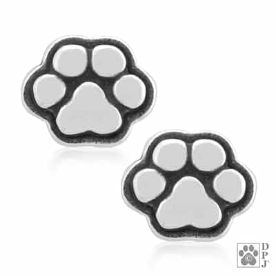Sterling Silver Pint-Sized Paws Post Earrings