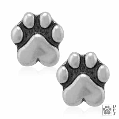 Sterling Silver Mini Speak to the Paw Post Earrings