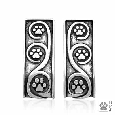 Sterling Silver Journey Paws Earrings