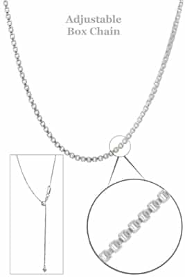 "Sterling Silver Adjustable Box Chain 2""-22"""