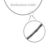 Ruthenium & Diamond Cut Sterling Silver Omega Cable Chain 18""