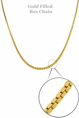 "14K Gold Filled Box Chain 16"" -- retired"