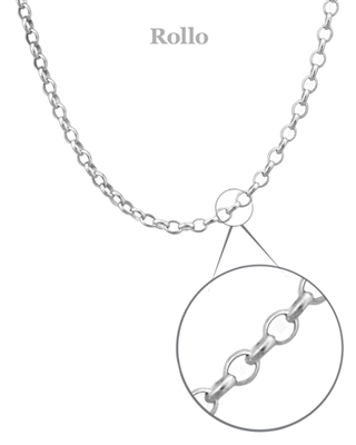 Sterling Silver Rollo Chain 16""