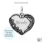 Personalized Sterling Silver Until We Meet Again Pendant