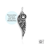 OUT OF STOCK Personalized Sterling Silver Let Me Carry You Home, Pendant