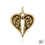 Bronze Healing Angels Pendant -- new
