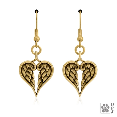 Bronze Healing Angels Earrings -- new