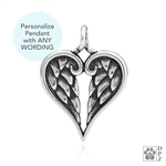 Engraved Sterling Silver Healing Angels Pendant -- new