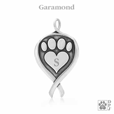 Personalized canine cancer jewelry