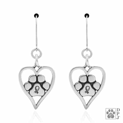 Sterling Silver You Will Always Be Forever in My Heart Earrings