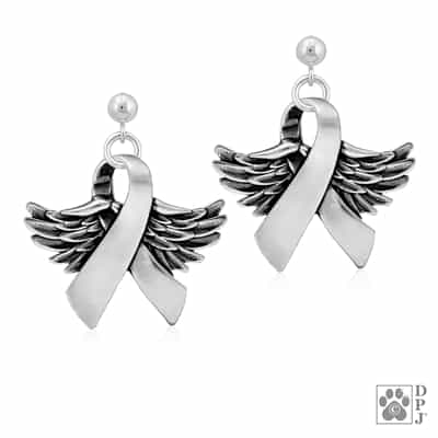 Sterling Silver Wings Of Hope Earrings
