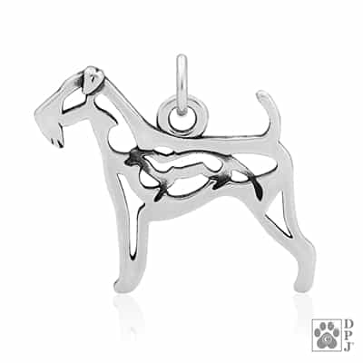 Sterling Silver Airedale Terrier Charm, Airedale Terrier Lover Gift, Airedale Terrier Pendant