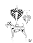 Sterling Silver Airedale Terrier Memorial Jewelry -- new