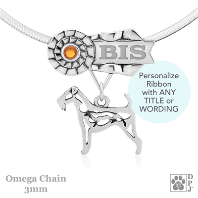 Best In Show Airedale Terrier Jewelry, Best In Show Airedale Terrier Pendant, Best In Show Airedale Terrier Necklace