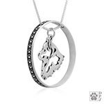 Popular Sterling Silver American Eskimo Jewelry with Paw Print Accent