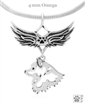 Handcrafted American Eskimo Angel Wing Necklace, Pet Memorial Jewelry