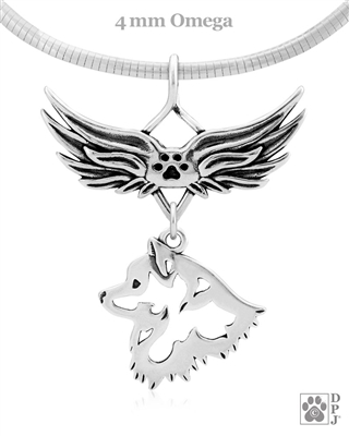 American Eskimo Memorial Jewelry, American Eskimo Sympathy Gift, American Eskimo Necklace, Pet Memorial