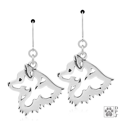 Sterling Silver American Eskimo Earrings, American Eskimo Gift