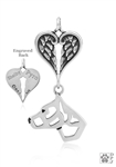 Sterling Silver American Staffordshire Terrier 2/Crp Ears Memorial -- new
