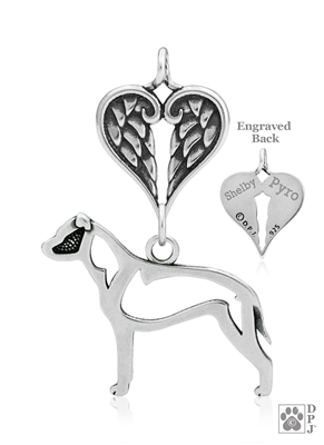 Sterling Silver American Staffordshire Terrier Memorial Necklace