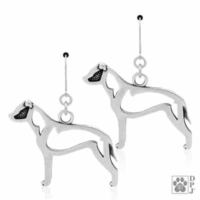 Sterling Silver American Staffordshire Terrier Earrings, AmStaff Gifts