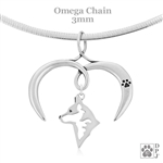 I Love My Australian Cattle Dog Necklace, Sterling Silver Australian Cattle Dog Necklace