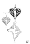 Australian Cattle Dog Angel Necklace, Sterling Silver Pet Memorial