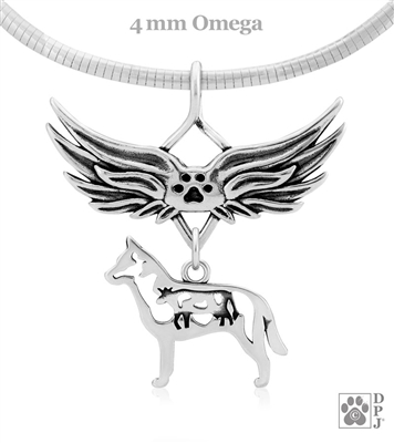 Sterling Silver Australian Cattle Dog Memorial Jewelry, Sterling Silver Australian Cattle Dog Jewelry, Sterling Silver Australian Cattle Dog Memorial, Loss of Dog, Grief of Pet, Dog Sympathy Gifts
